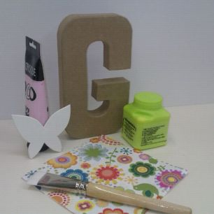Per a fer lletres amb decoupage