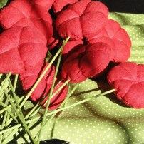 Flors de Tela decoratives