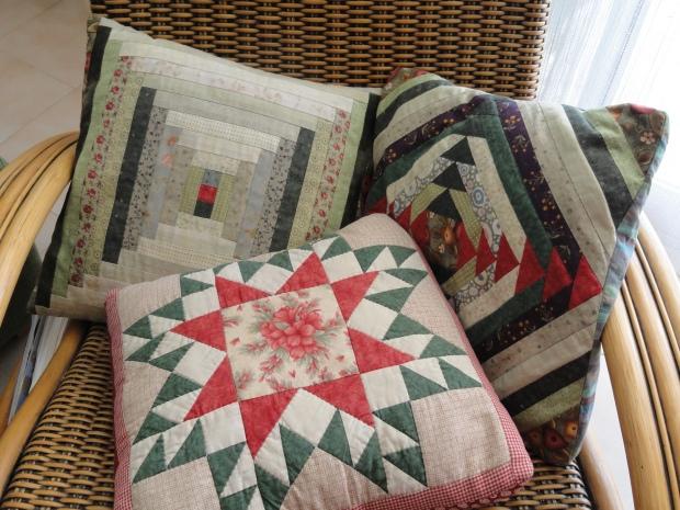 Coixins de patchwork