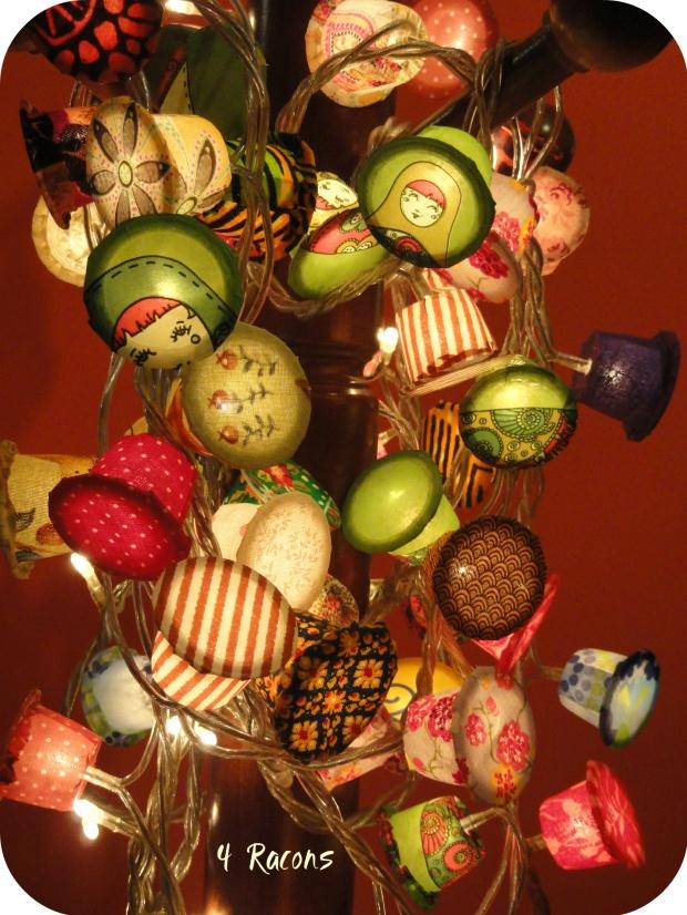 Llums decoratives a parir de càpsules de cafè
